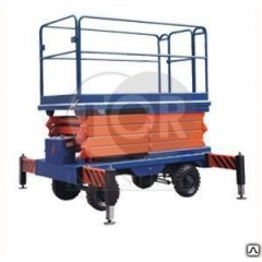 Подъемник ножничный передвижной модели SJY 300 кг 14 м