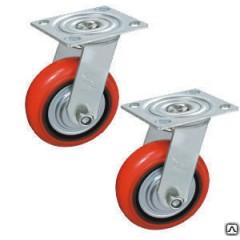 Колесо поворотное полиуретан/металл TOR (C550S/PU1340CB3ra/TG) 125мм
