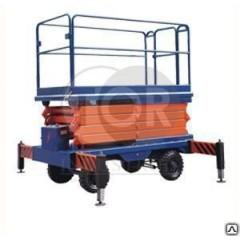 Подъемник ножничный передвижной модели SJY 500 кг 14 м