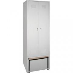 Гардеробный шкаф для одежды ШО 2С со скамейкой