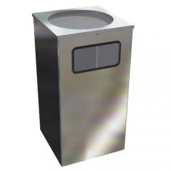 Урна для мусора Квадро-15 хром