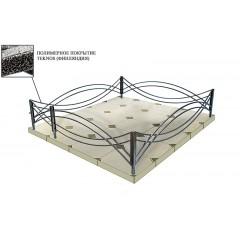 Ограда ритуальная оцинкованная Тип 1-2