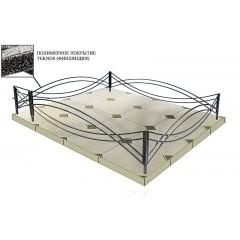 Ограда ритуальная оцинкованная Тип 1-3